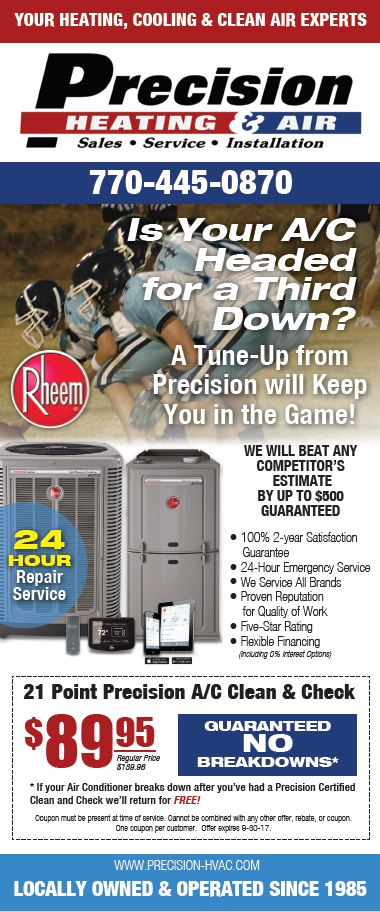 Precision Heating & Air Conditioning Special for Dallas, Douglasville, Kennesaw, Acworth & Marietta, Georgia